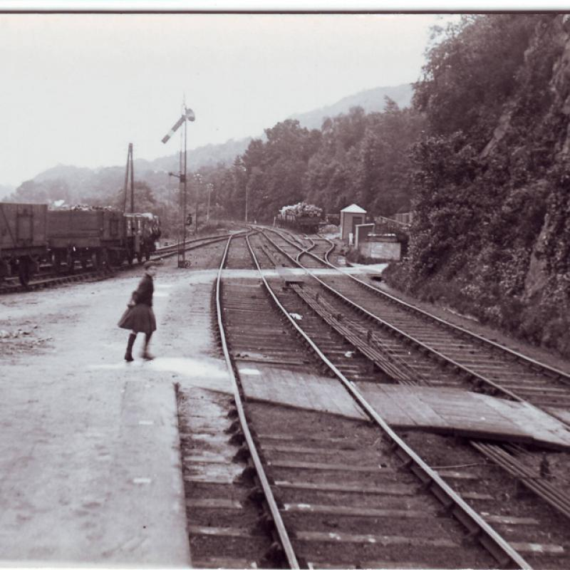 Girl at Loch Awe Railway Line